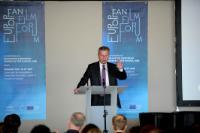 Visite de Günther Oettinger, membre de la CE, en France