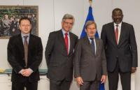 Visit of Elhadj As Sy, Secretary General of the International Federation of Red Cross and Red Crescent Societies (IFRC), Werner Kerschbaum, Secretary General of the Austrian Red Cross, and Denis Haveaux, Director of the Red Cross EU Office, to the EC