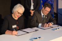 Participation de Maroš Šefčovič, vice-président de la CE, et Elżbieta Bieńkowska, membre de la CE, à l'évènement 'Galileo Goes Live!'