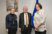 Visit of Jean-Pierre Bourguignon, President of the ERC, to the EC