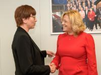 Visite de Kathrin Schneider, ministre des Infrastructures et de l'Aménagement du territoire du Land de Brandebourg, à la CE