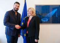 Visit by Corina Creţu, Member of the EC, to Strasbourg