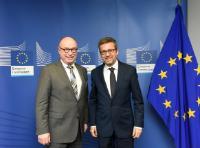 Visiste de Martin Stratmann, président de la société Max Planck, à la CE