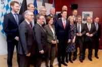 Participation de Jean-Claude Juncker, président de la CE, Antonio Tajani, Antonio Tajani, président du Parlement européen, Donald Tusk, président du Conseil européen, et Corina Creţu, membre de la CE, à la conférence des ministres-présidents des gouvernements régionaux d'Allemagne