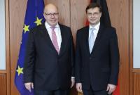 Visite de Valdis Dombrovskis, vice-président de la CE en Allemagne