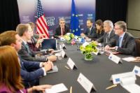 Participation de Federica Mogherini, vice-présidente de la CE, Dimitris Avramopoulos, membre de la CE, et Julian King, membre de la CE, à la réunion des ministres des Affaires étrangères et de la Sécurité du G7, au Canada