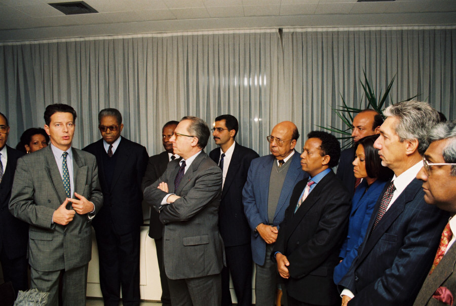Reception in honour of Dominica Perben, French Minister for the Overseas Departments and Territories