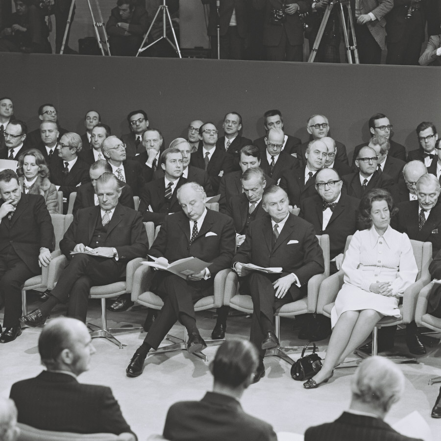 Signing ceremony of the accession treaty of Denmark, Ireland, Norway and the United Kingdom