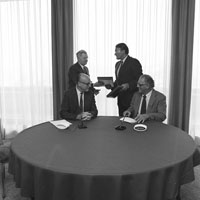 Signing of a cooperation agreement between the United States and the EURATOM on the sharing of information in the field of radioactive waste management