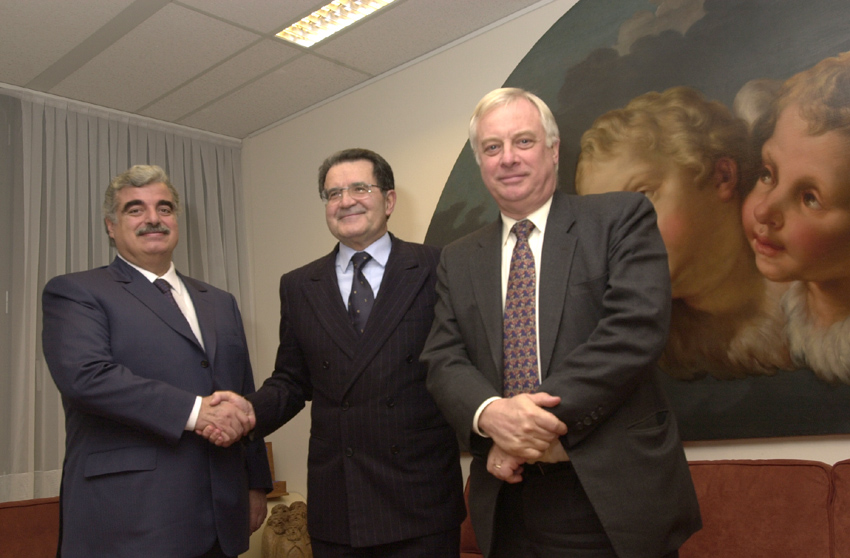 Visit of Rafic Hariri, Lebanese Prime Minister, to the EC