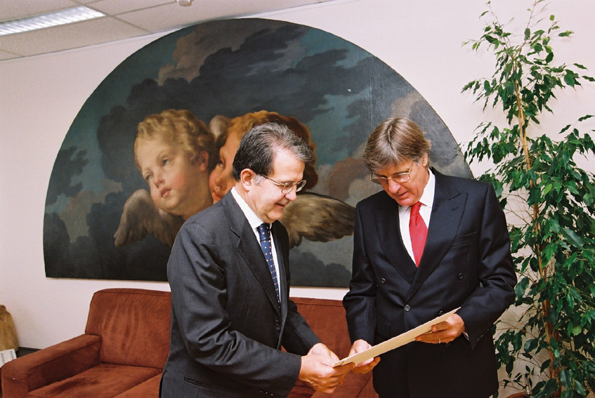 Presentation of the credentials of the Heads of Mission to Romano Prodi, President of the EC