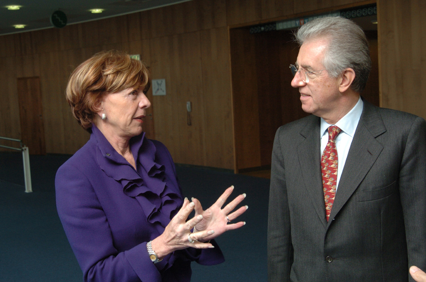 Visit of Mario Monti, former Member of the EC, to the EC