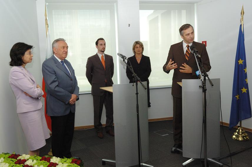Visit by Veselin Topalov, 2005 Chess World Champion, to the EC
