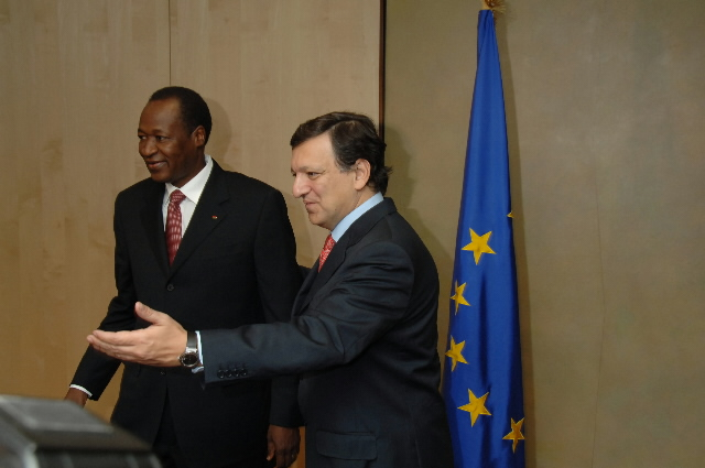 Visit by Blaise Compaoré, President of Burkina Faso, to the EC