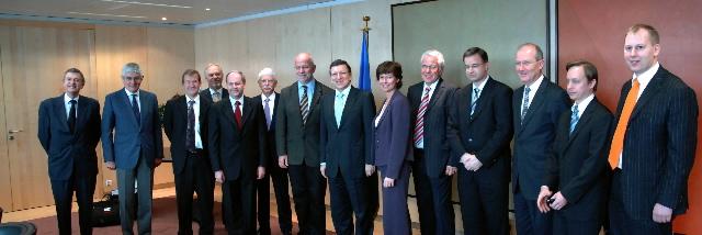 Visite d'une délégation de la chambre de commerce des Etats-Unis, à la CE