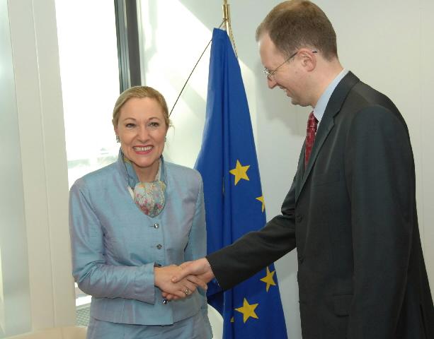 Visite d'Arseniy Iatseniouk, ministre ukrainien des Affaires étrangères, à la CE