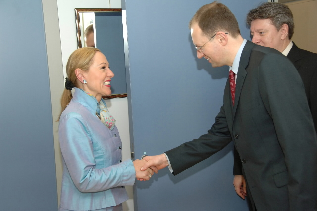 Visit by Arseniy Yatsenyuk, Chairman of the Ukrainian Parliament, to the EC