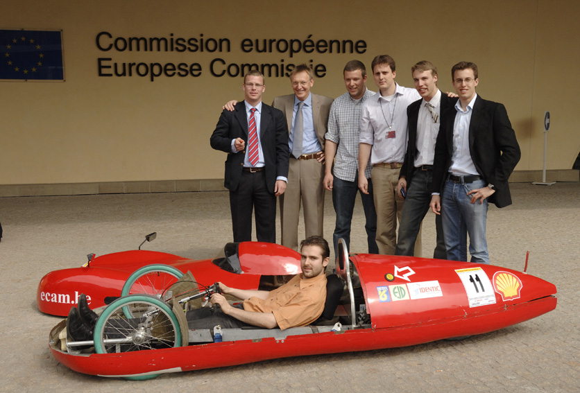Patronage by Andris Piebalgs, Member of the EC, of the Shell Eco-marathon car race