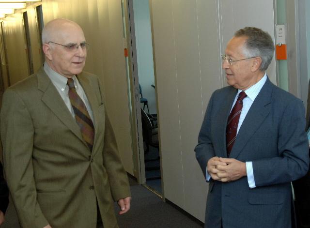 Visite d'Efthimios Mitropoulos, secrétaire général de l'Organisation maritime internationale (OMI), à la CE