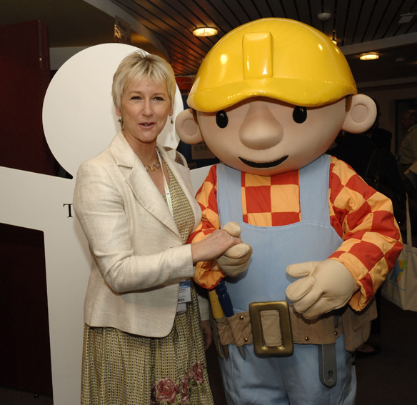 Margot Wallström, Vice President of the EC, and Bob the Builder at the launch of the Green Week 2007