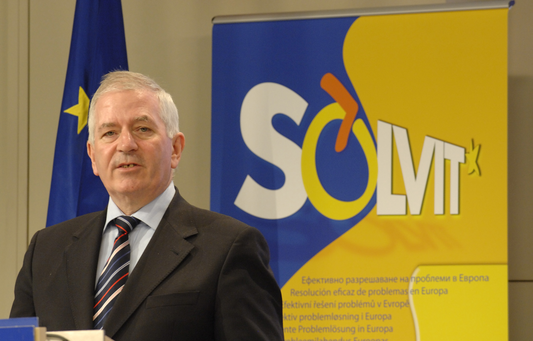 Press conference with Charlie McCreevy, Member of the EC, on the 5th anniversary of Solvit