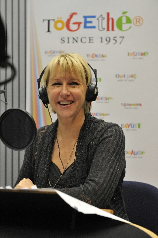 Margot Wallström, Vice-President of the EC, in the radio studio