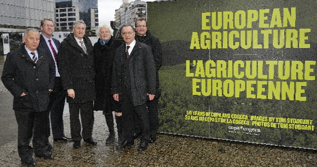 Visit of Mariann Fischer Boel, Member of the EC, to the exhibition on European agriculture