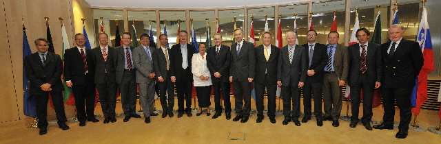 Visit of a delegation of the Olympic movement presided by Jacques Rogge, President of the IOC, to the EC