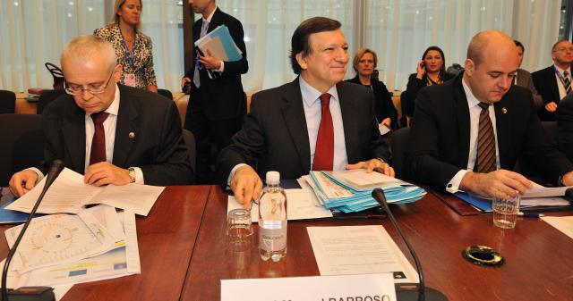 Participation of José Manuel Barroso, President of the EC, in the Tripartite Summit