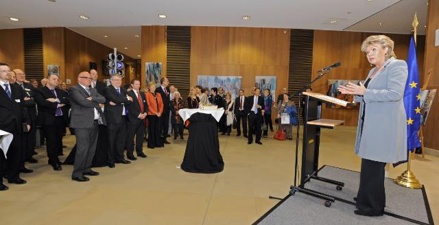 Participation of Viviane Reding, Vice-President of the EC, at the New York Contrastes exhibition