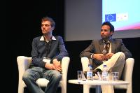 Award ceremony of the Content 360 Competition at the MIPTV 2010, in Cannes, by Ylva Tivéus, Director of the Directorate C