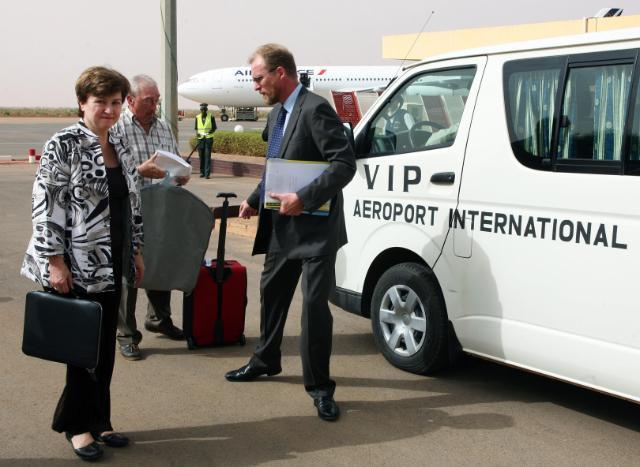 Visite de Kristalina Georgieva, membre de la CE, au Niger
