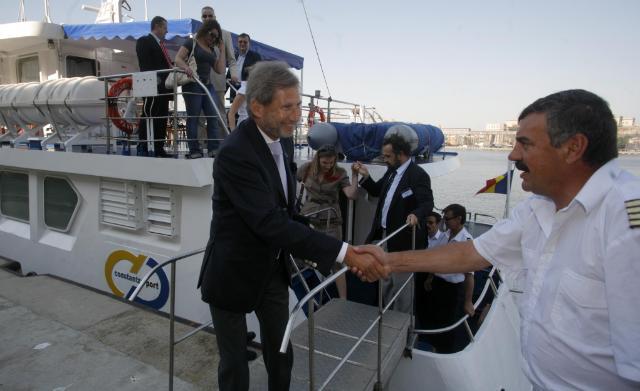 Visite de Johannes Hahn, membre de la CE, en Roumanie
