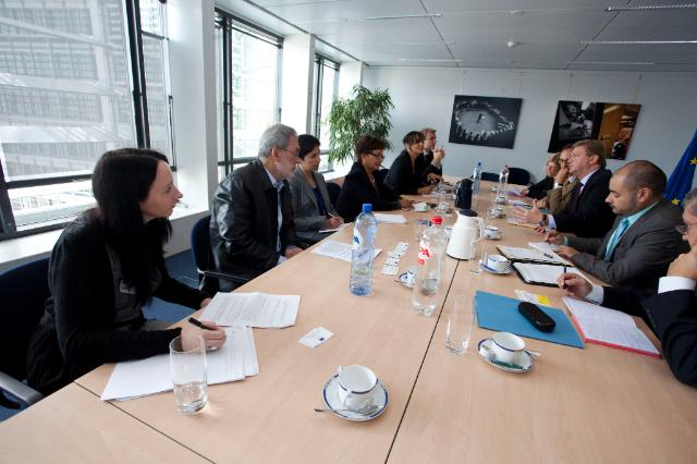 Visit of the representatives of several human rights defender organization, to the EC