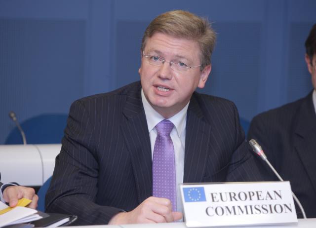 Rencontre entre Štefan Füle, membre de la CE, et une délégation de représentants des organisations de la société civile (OSC)