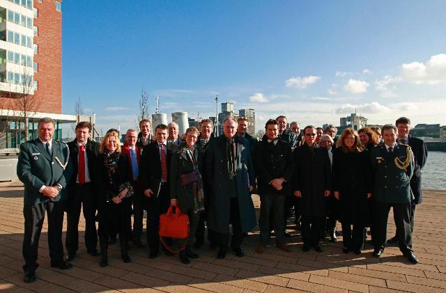 Visite d'Algirdas Šemeta, membre de la CE, au port de Rotterdam