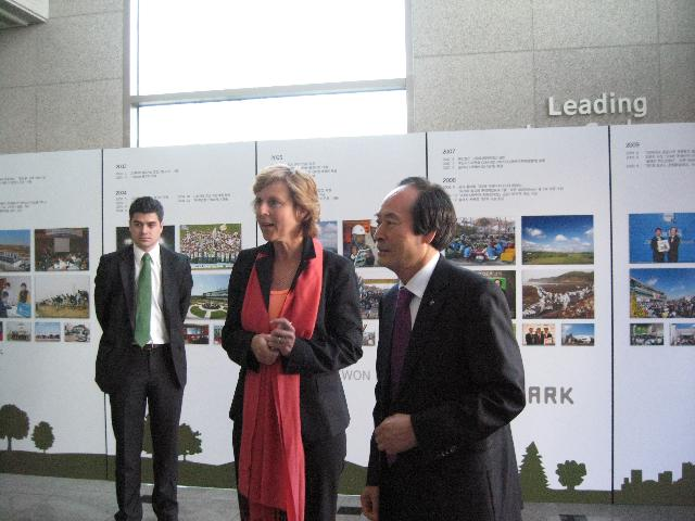 Visit of Connie Hedegaard, Member of the EC, to South Korea