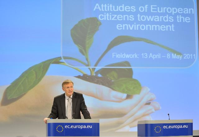 Press conference by Janez Potočnik, Member of the EC, on the Rio+20 Communication and the Eurobarometer study on the attitudes of European citizens towards the environment