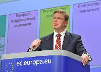 Joint press conference by Andris Piebalgs and Štefan Füle, Members of the EC, on the budget proposals for the EC external instruments for 2014-2020