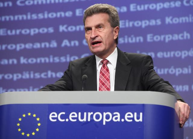 Press conference by Günther Oettinger, Member of the EC, on the Energy Roadmap 2050