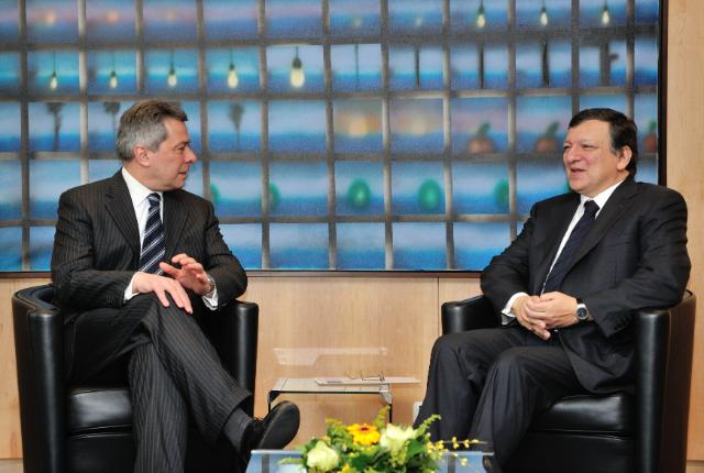 Presentation of the credential of the Head of Mission of Croatia to the EU, to José Manuel Barroso, President of the EC