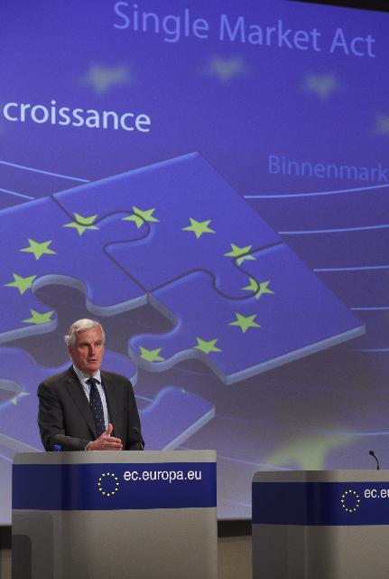 Press conference by Michel Barnier, Member of the EC, on the 20th anniversary of the Single Market