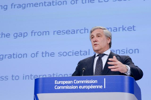 Press conference by Antonio Tajani, Vice-President of the EC, on an industrial policy initiative designed to boost the European security industry