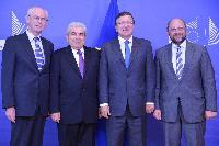 Visit of Herman van Rompuy, President of the European Council, Martin Schulz, President of the EP, and Demetris Christofias, President of Cyprus, to the EC