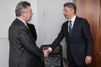 Visite de Yuriy Boyko, ministre ukrainien de l'Energie et de l'Industrie du charbon, et Ihor Prasolov, ministre ukrainien du Développement économique et du Commerce, à la CE