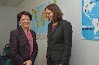 Visit of Mireille Ballestrazzi, President of Interpol, to the EC
