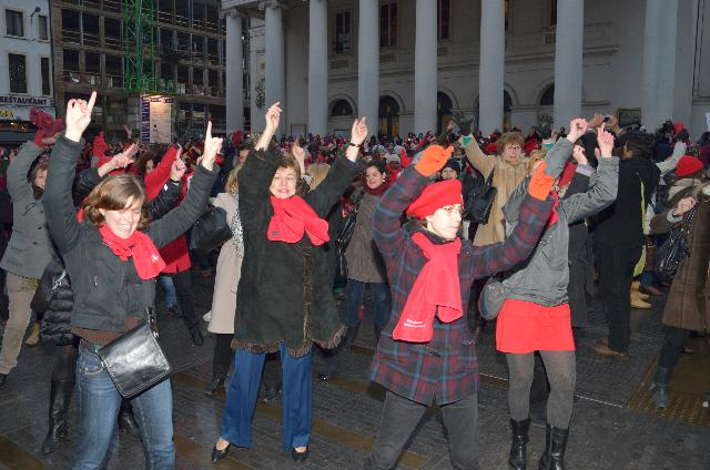 Participation of Kristalina Georgieva, Member of the EC, at the flashmob organised as part of the 'One billion rising' campaign