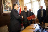 Visite de José Manuel Barroso, président de la CE, et Cecilia Malmström, membre de la CE, au Maroc
