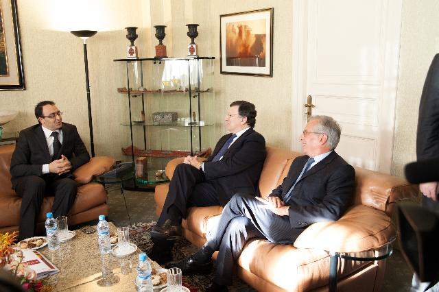 Visit of José Manuel Barroso, President of the EC, and Cecilia Malmström, Member of the EC, to Morocco