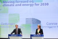 Joint press conference by Günther Oettinger and Connie Hedegaard, Members of the EC, on the Green Paper on the framework for climate and energy policies towards 2030